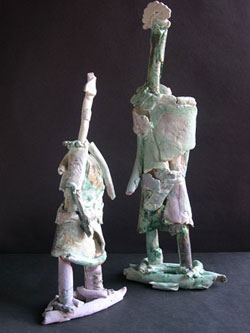 fragmented clay figures