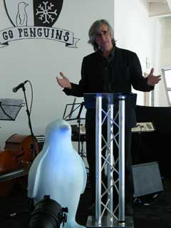 Phil Redmond and his assistant Patrick Penguin