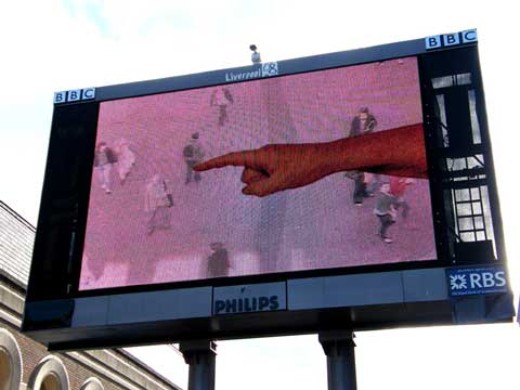 'The Hand From Above' Clayton Sq Big Screen