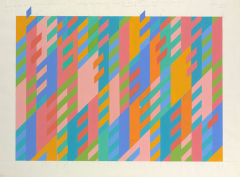 Collage study, revision of 15th December, 1993 Collection of the artist © 2009 Bridget Riley. All rights reserved