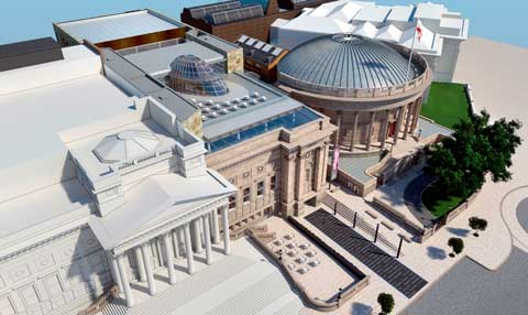 Liverpool Central Library - Aerial View