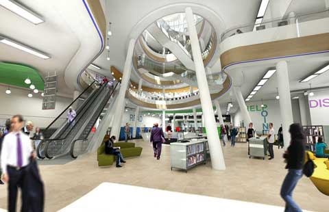 Central Library - Entrance - Atrium