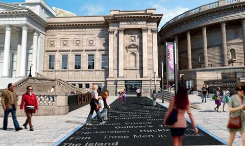 Central Library - Entrance Forecourt