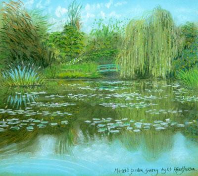 Monet's Garden in Solitude  c. Robert Jackson