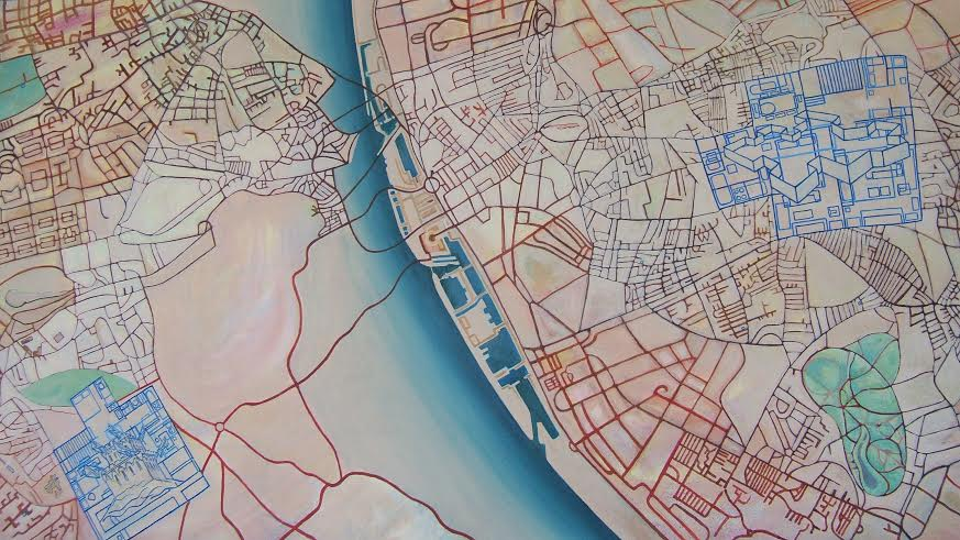 North, South Transpennine-detail' - Acrylic on canvas