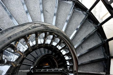 Staircase at 16 Cook St. Photo © Minako Jackson