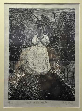 Ghosts at the Wedding, Mukharadeeb, Iraq, 2004. Engraving by Emily Johns