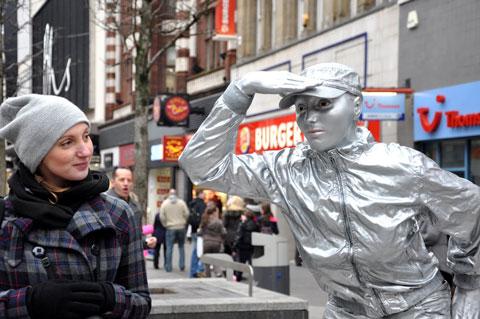 Laurence Payot and her sculpture.   Photos: Minako Jackson