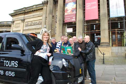 NML Marketing Manager, Claire Rider with some 'Cultural Cabbies'