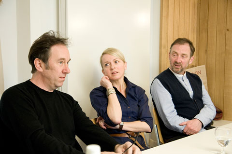 Judges: From L-R - Ged Quinn (Liverpool-born), Alison Watt and Gary Hume