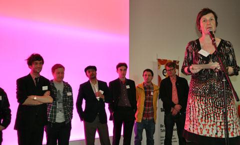 Julia Payne of The Hub announces the music producers