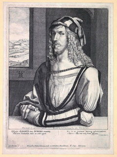 Portrait of Dürer by Wenceslas Hollar (after the Prado  self-portrait). © Hunterian Museum & Art Gallery, University of  Glasgow.