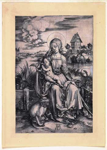Virgin and Child Seated on a Grass Bench by Albrecht Dürer. © Hunterian Museum & Art Gallery, University of Glasgow.