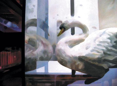 'Swan Song' Oil Painting, Catherine Kleeli
