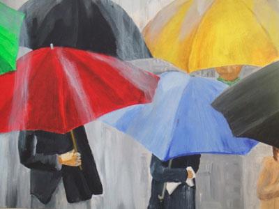 Susan Brown - 'Umbrellas'