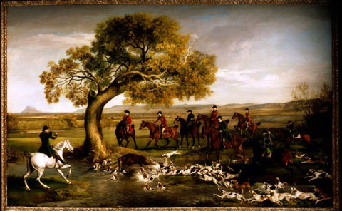 George Stubbs. The Grosvenor Hunt, painted in 1762. © The Duke of Westminster's Collection
