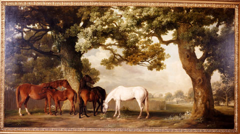 George Stubbs. Mares and Foals, painted about 1764. © The Duke of Westminster's Collection