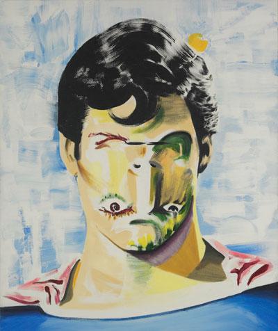Episodical by Darren Coffield, 2010  Acrylic on canvas (96 x 81 cm)