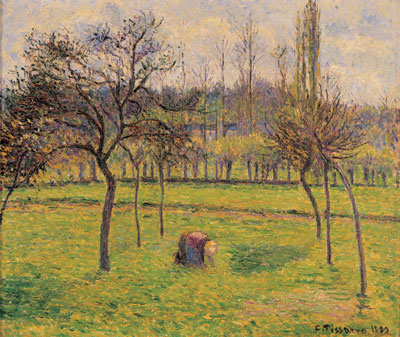 Pissaro: Pommiers dans une prairie C 2010 David Lewis and family interests