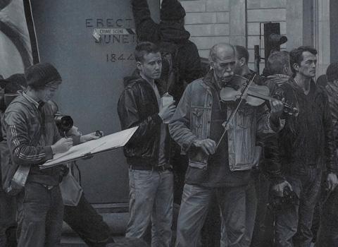 'Protest, April 1st 2009' Detail. Nicholas Middleton