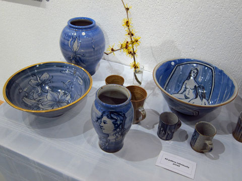 Ceramics by Robert Goldsmith, decorated by Eve Goldsmith