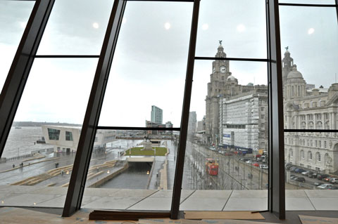 The Pier Head and further on the Cruise Ship terminal