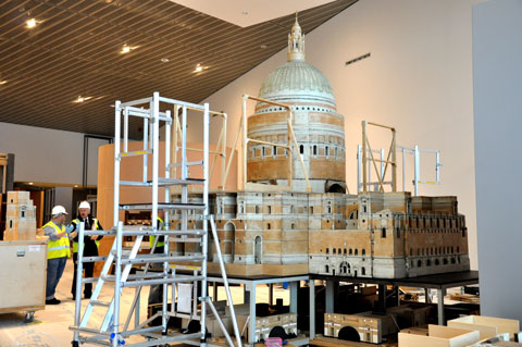 The model of the Lutyens Liverpool Cathedral - great to see it on show again