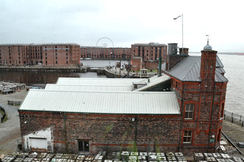 Looking towards the Albert Dock