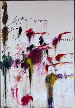 Cy Twombly, Quattro Stagionia: Antunno, © Cy Twombly