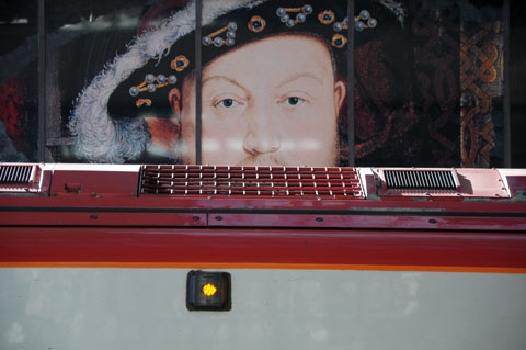 Henty VIII waiting to board the London train.