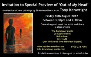 Acclaimed local photo journalist Tony Kenwright swaps his camera for canvas!