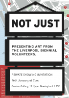 Domino: 'Not Just' – an exhibition by Biennial 2012 Volunteers