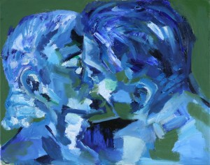 Blue Kiss. Oil On Canvas by Marcus Wemyss.