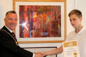 James meets the mayor