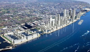 Artists impression showing the masterplan evolution of Liverpool Waters © The Peel Group