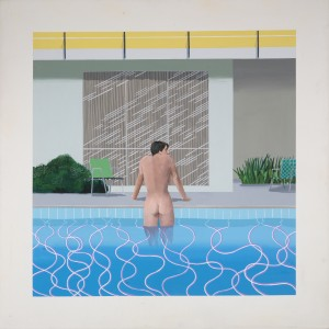 "Peter Getting our of Nick's Pool 1966 Acrylic on canvas 84 x 84"" © David Hockney Collection Walker Art Gallery, Liverpool Photo Credit: Richard Schmidt"