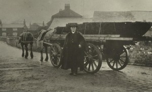 Rev. Bulpitt with Crossens Canoe shortly after removal from the farm
