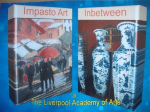 """Inbetween"" by Jill Zhang and ""Impasto Art"" by Brian Beattie."