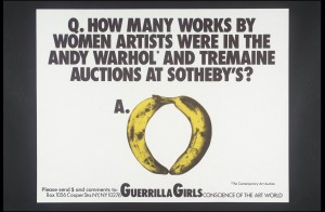 Guerrilla Girls [no title] 1985-90. Screenprint on paper on paper, print 430 x 560 mm
