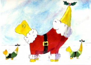 Super Lambanana Christmas Cards by Irene Wilson
