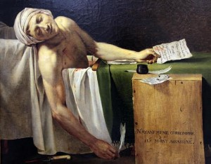 The Death of Marat 1793 - Jacques Louis David and Studio