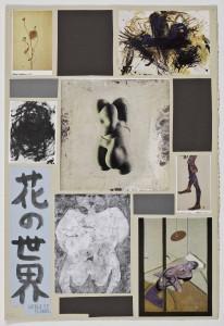 Richard Hawkins Ankoku 9 (Index World Flower) 2012 Collage 19 3/4 x 13 1/2 inches 50.2 x 34.3 cm   Courtesy Jay Sanders, New York