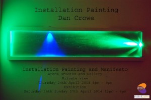 Arena: Dan Crowe: Installation Painting