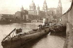 U-Boat in Canning Dock, Liverpool in 1918
