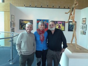 Sefton Guild artists at The World of Glass - Brian Lewis, Rosemary Morison and Ulrich West.