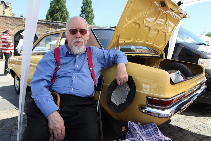 Sir Peter Blake at the 2012 Vauxhall Art Car Boot Fair