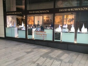 Liverpool One Window Dedicated to John Moores Painting Prize Finalists