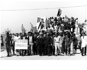 "Venice,1968. Artist, workers and students protest, XXXIV Esposizione Biennale Internazionale d'Arte ""Photo Ugo Mulas © Ugo Mulas Heirs. All rights reserved"""