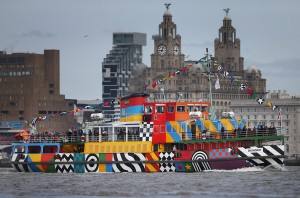 Sir Peter Blake's Ferry Dazzles on the Mersey!