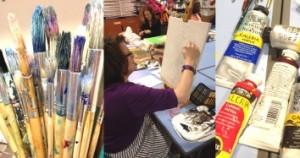 the Bluecoat: dot-art Painting Classes